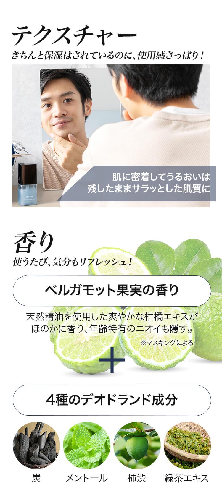 きちんと保湿 使用感さっぱり!ベルガモット果実の香り 4種のデオドランド成分