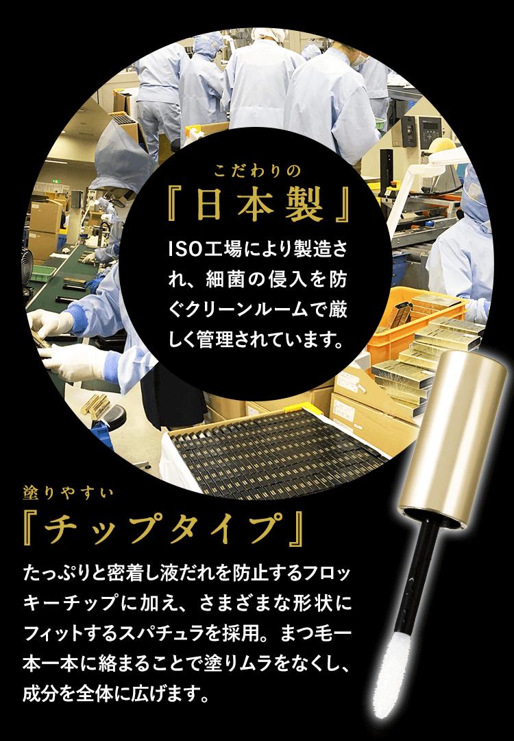 日本製、塗りやすいチップタイプ