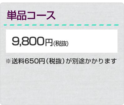 単品コース 9,800円(税抜)※送料702円が別途かかります