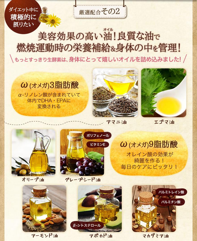 厳選配合その2 美容効果の高いオイル!良質な油で燃焼運動時の栄養補給&身体の中を管理! オメガ3脂肪酸 オメガ9脂肪酸