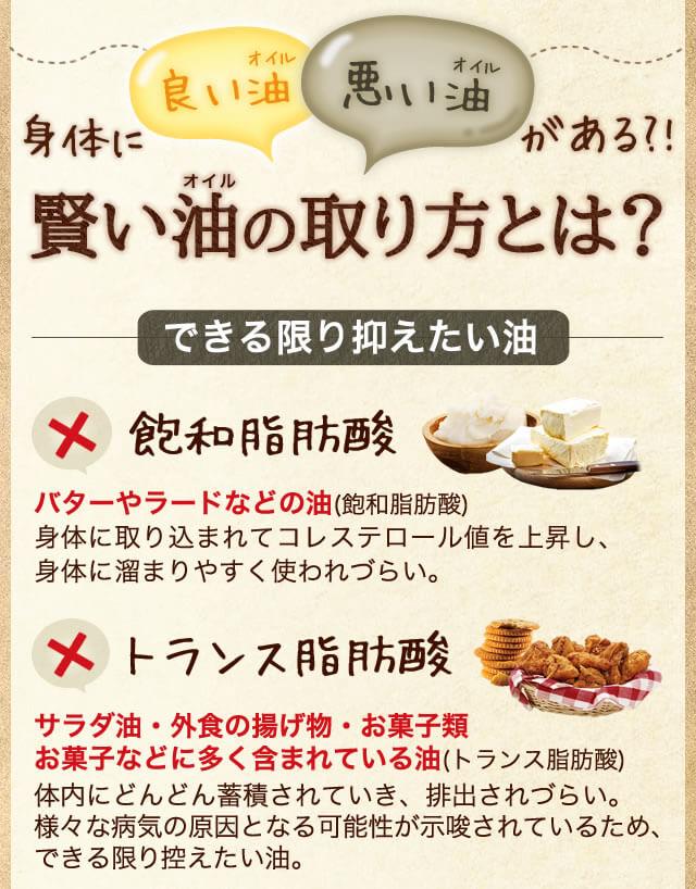 身体に良いオイルと悪いオイルがある?! 賢いオイルの取り方とは? 出来る限り抑えたい油 飽和脂肪酸 トランス脂肪酸