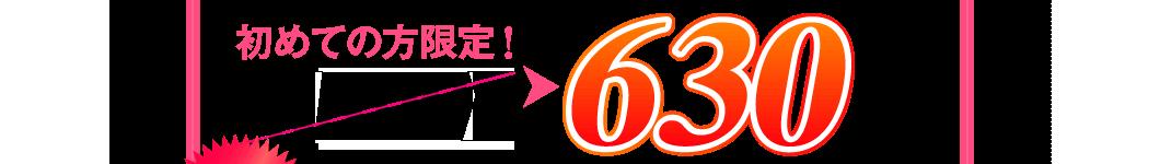 初めての方限定!4,890円→630円(税込)