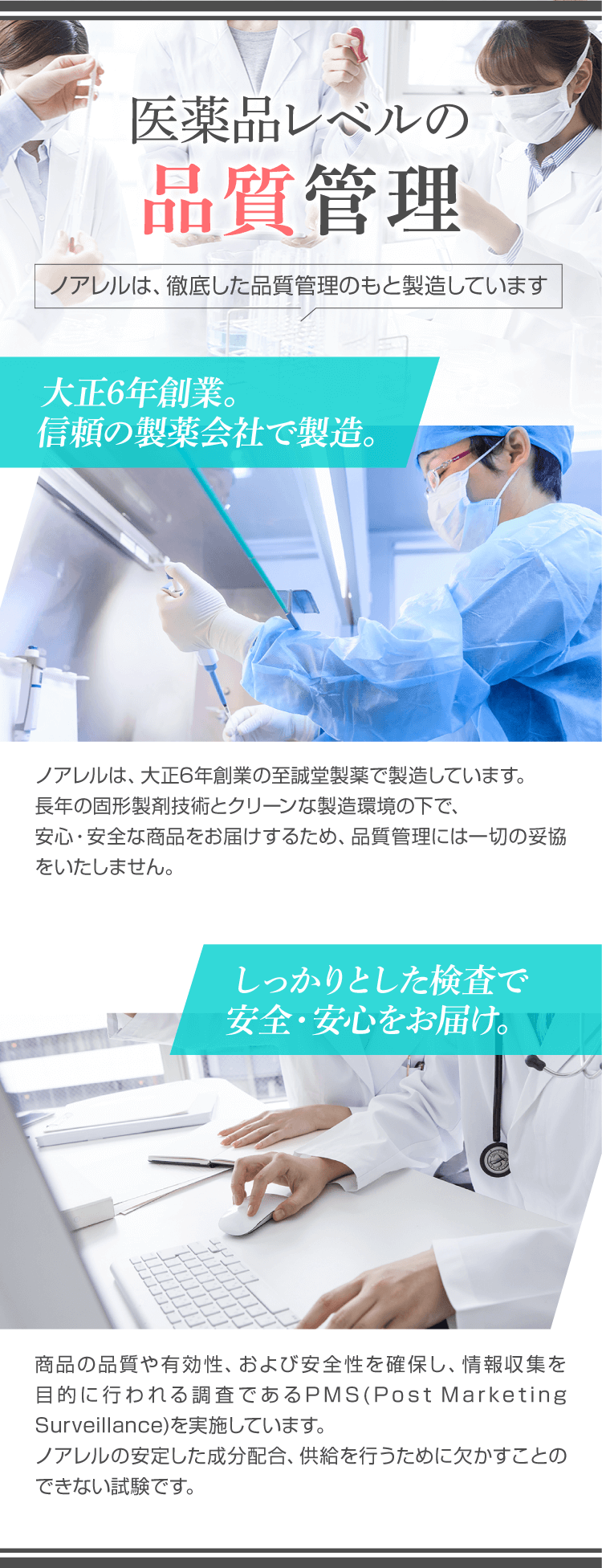 医薬品レベルの品質管理