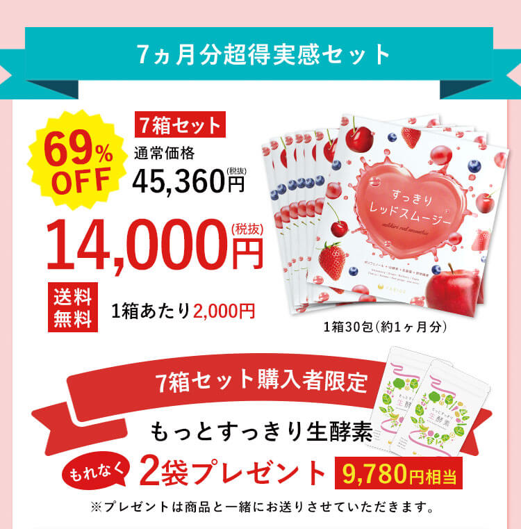 目指せ-7kg 本気で習慣化サポートコース 69%OFF 7箱セット 14,000円